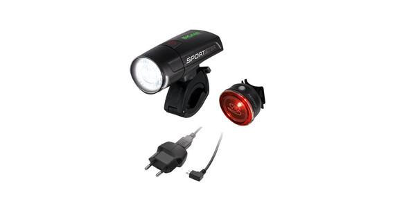 SIGMA SPORT Sportster + Mono Beleuchtungsset schwarz
